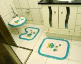 Jogo Banheiro Tear - Franja Azul